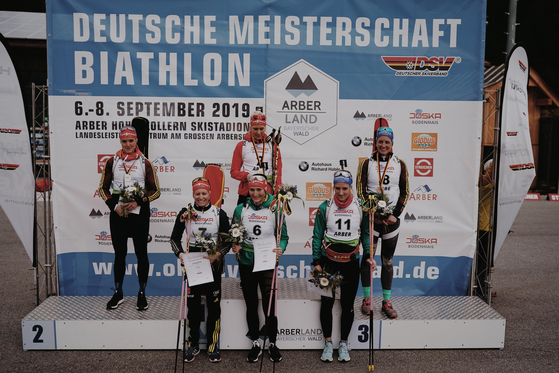 Guter Start von Juliane Frühwirt in die Deutschen Biathlon Meisterschaften